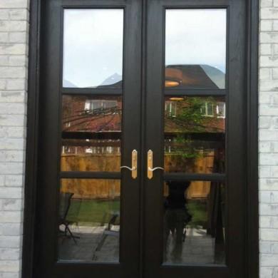 Fiberglass Door-Fiberglass woodgrain Flash Glazed with Multi Point Locks by Fiberglass Doors Toronto