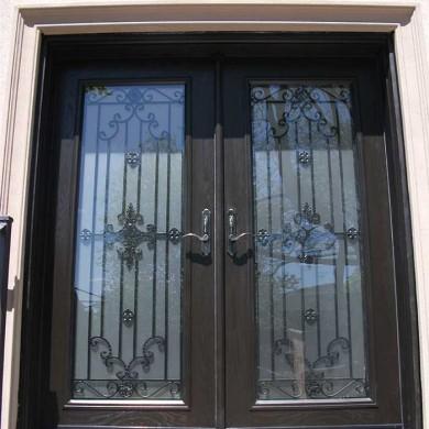 Fiberglass Door-Woodgrain Double Fiberglass Paris desgin Door with Multi Point Locks Installed by Fiberglass Doors Toronto in Hamilton
