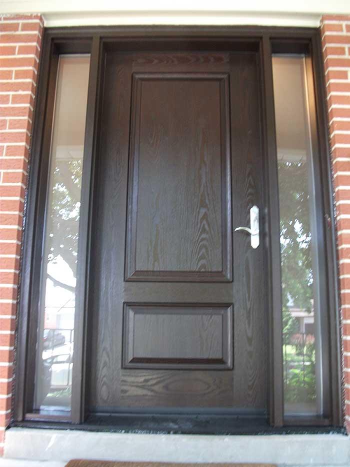 Fibergl Executive Doors 8 Foot Single Solid Front