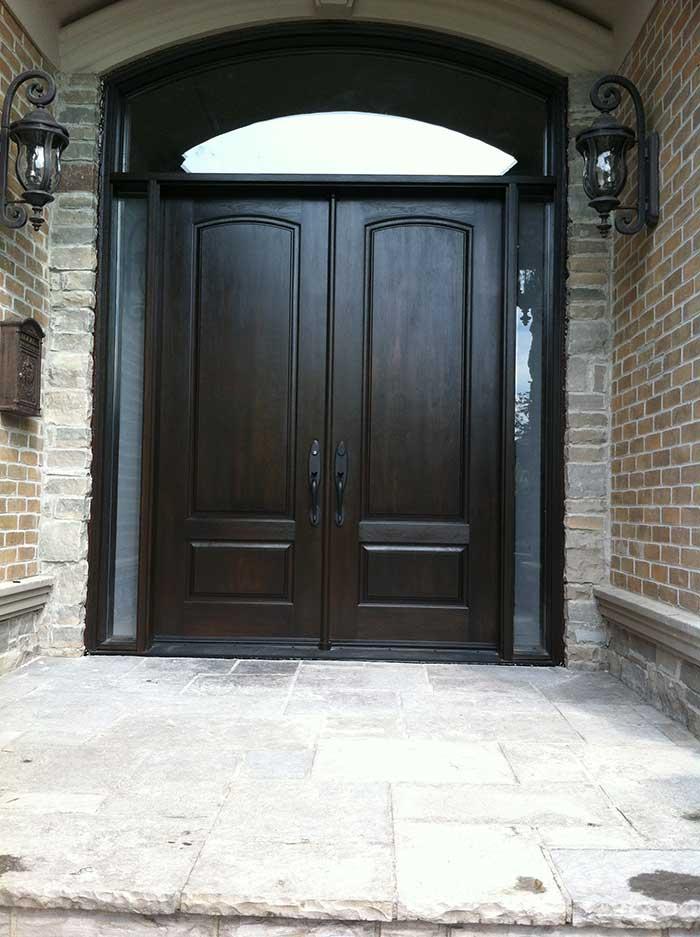 Fibergl Executive Doors Double Solid 8 Foot Front