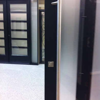 Multi Point Locks System Installation on New Modern Fiberglass Doors by Fiberglass Doors Toronto