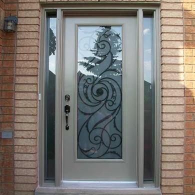 Smooth Exterior Fiberglass Door with Multi Point Locks installation by Fiberglass Doors Toronto