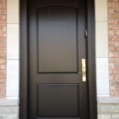 Smooth Fiberglass Single Doors Installed by Fiberglass Doors Toronto