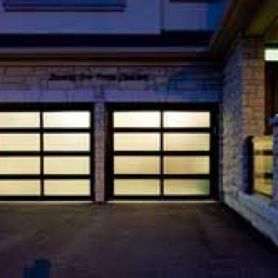 Smooth Glass Garage Doors installed by Fiberglass Doors Toronto