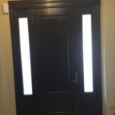 Woodgrain Fiberglass Door with 2 Side Lites, Inside View installed by Fiberglass Doors Toronto