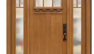 Richerson MasterGrain Premium Fiberglass Entry Doors- Richerson Craftsman Fir Collection-Craftsman Fir 3 Panel Entry Door by Fiberglass Doors Toronto