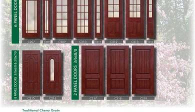 Richerson MasterGrain Premium Fiberglass Entry Doors- Richerson Rustic Traditional Cherry Collection-Traditional Cherry Grain by Fiberglass Doors Toronto