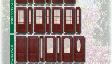 Richerson MasterGrain Premium Fiberglass Entry Doors- Richerson Rustic Traditional Cherry Collection-Traditional panel Doors by Fiberglass Doors Toronto