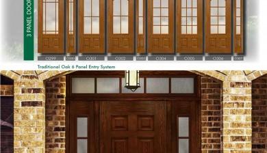 Richerson MasterGrain Premium Fiberglass Entry Doors- RichersonTraditional Oak Collection-Traditional Oak 6 Panel Entry Doors by Fiberglass Doors Toronto