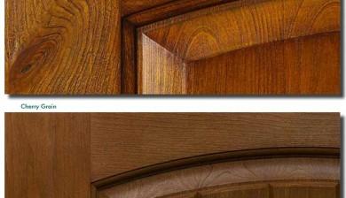 WEBER GRAIN TECHNOLOGY-Knoty Alder Grain and Cherry Grain Richerson MasterGrain Premium Fiberglass Entry Doors by fiberglassdoorstoronto