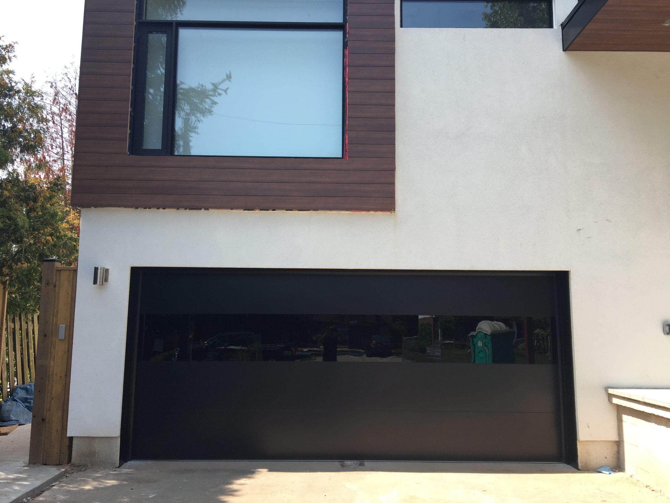 Modern Exterior Glass Garage Door