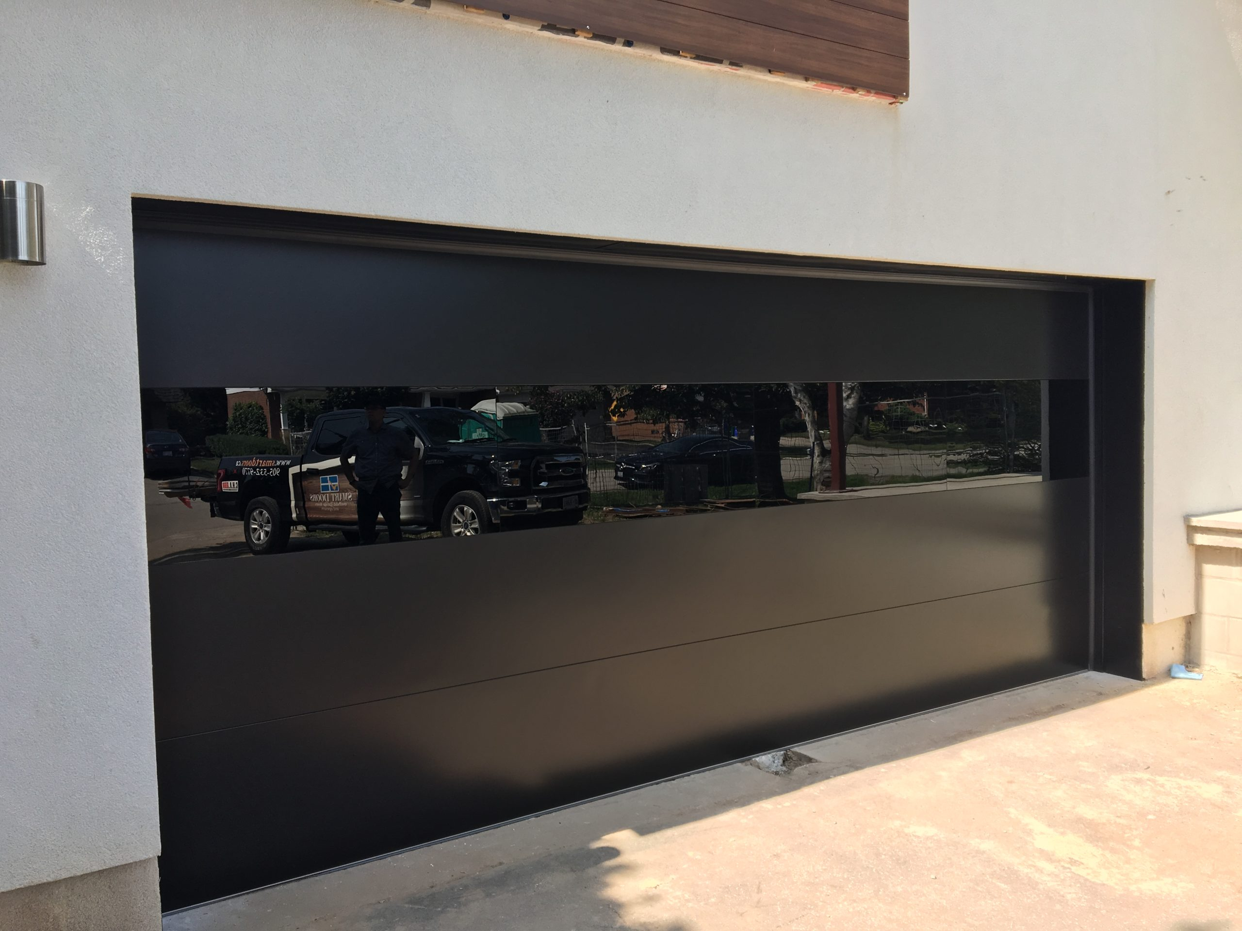 Modern Exterior Glass Garage Door 1