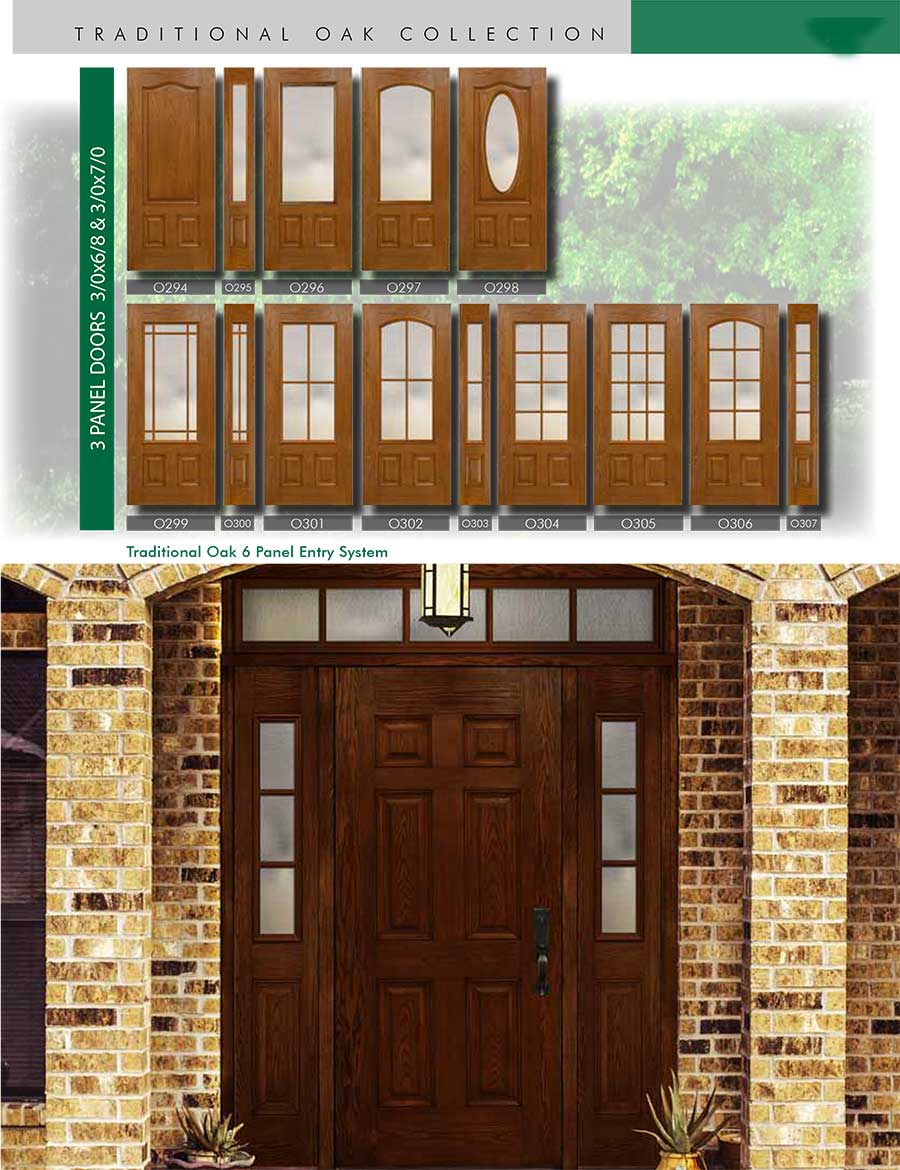 Richerson-MasterGrain-Premium-Fiberglass-Entry-Doors-RichersonTraditional-Oak-Collection-Traditional-Oak-6-Panel-Entry-Doors-by-Fiberglass-Doors-Toronto