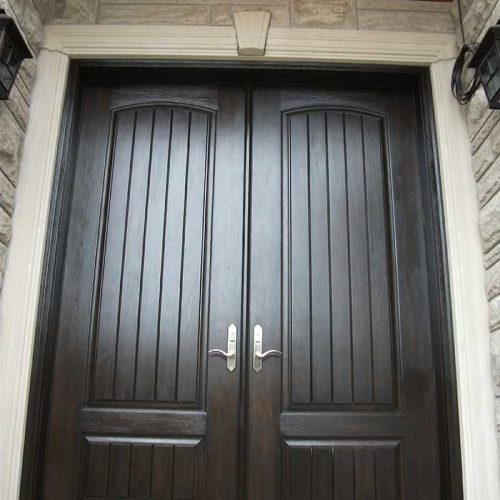 Fiberglass-Executive-Doors-8-Foot-Fiberglass-Solid-Front-Parliament-Rustic-Double-Doors-with-Multi-Point-Locks-Installed-in-Aurora-by-Fiberglass-Doors-Toronto