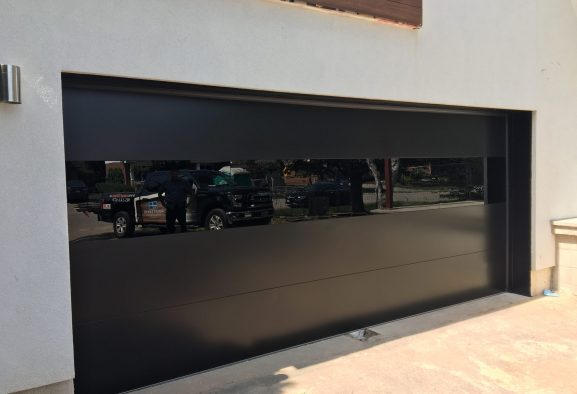 Modern Exterior Glass Garage Door 1